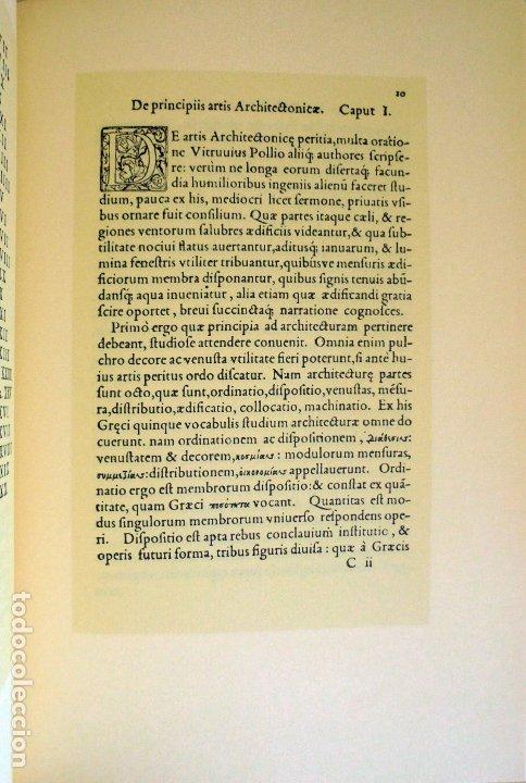 Libros de segunda mano: La arquitectura técnica en sus textos Históricos -Faventino - Edición facsímil numerada - - Foto 6 - 176577887