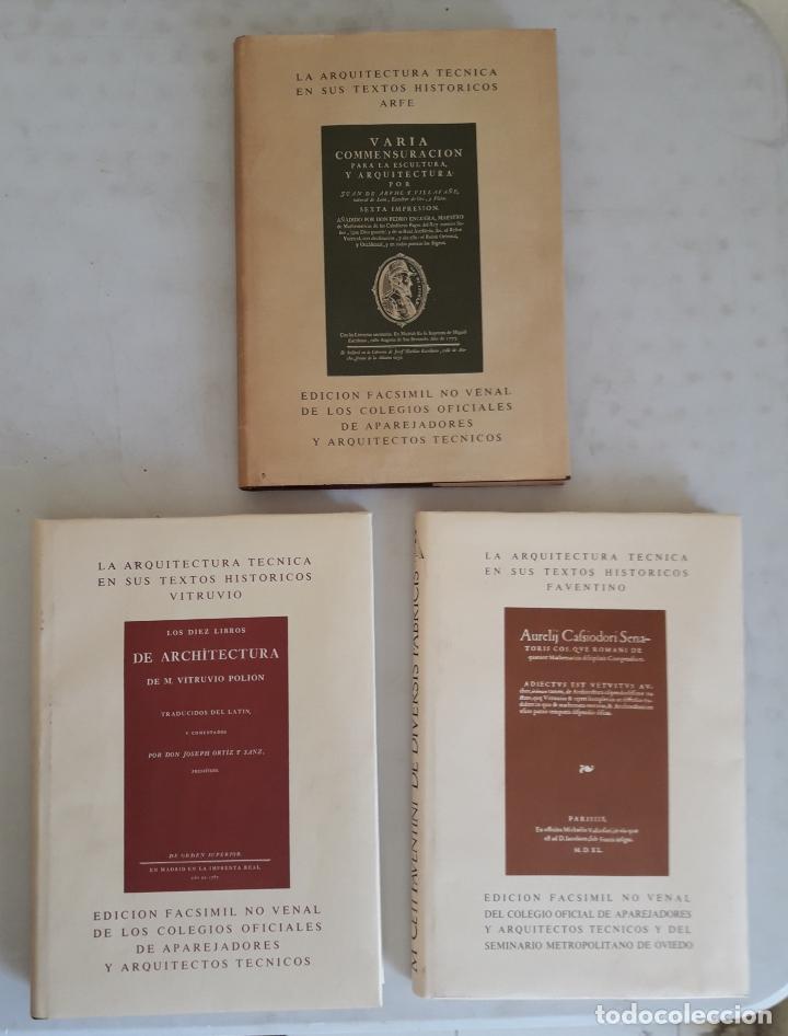 LA ARQUITECTURA TÉCNICA EN SUS TEXTOS HISTÓRICOS- VITRUVIO- FAVENTINO- ARFE (Libros de Segunda Mano - Bellas artes, ocio y coleccionismo - Arquitectura)