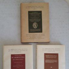 Libros de segunda mano: LA ARQUITECTURA TÉCNICA EN SUS TEXTOS HISTÓRICOS- VITRUVIO- FAVENTINO- ARFE. Lote 176668349