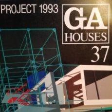 Libros de segunda mano: GLOBAL ARCHITECTURE HOUSES 37. PROJECT 1993.. Lote 177003414
