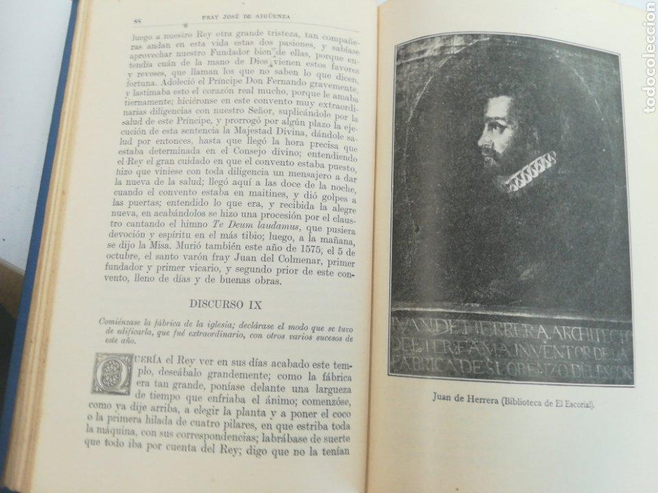 Libros de segunda mano: Fundación del Monasterio de el Escorial por Felipe II FR José de Sigüenza, 1927.Tapa dura tela edito - Foto 2 - 179146576
