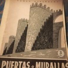 Libros de segunda mano: PUERTAS Y MURALLAS POR JOSÉ SANZ Y DIAZ PUBLICACIONES ESPAÑOLAS 1956. Lote 180141833