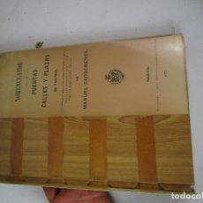 Libros de segunda mano: LIBRO ANTIGUO NOMENCLATOR DE LAS PUERTAS, CALLES Y PLAZAS DE VALENCIA. - CARBONERES, MANUEL.. Lote 180408957