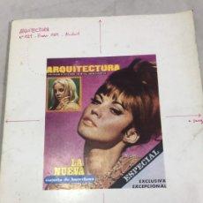 Libros de segunda mano: ARQUITECTURA Nº121 ENERO 1969 COLEGIO ARQUITECTOS DE MADRID. Lote 181617443