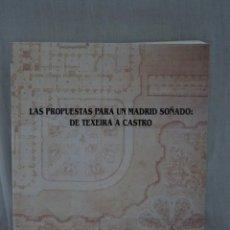 Libros de segunda mano: CATALOGO EXPOSICION ARQUITECTURA: LAS PROPUESTAS PARA UN MADRID SOÑADO:DETEXEIRA A CASTRO. Lote 183582010