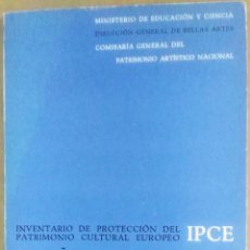 Libros de segunda mano: MONUMENTOS DE ARQUITECTURA MILITAR. INVENTARIO DE PROTECCIÓN DEL PATRIMONIO CULTURAL EUROPEO. ESPAÑA. Lote 183588431