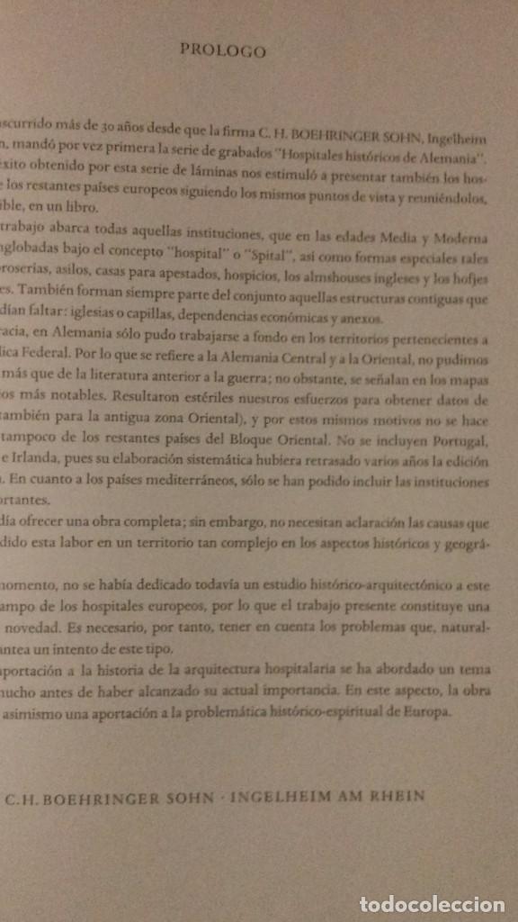 Libros de segunda mano: EDIFICIOS HOSPITALARIOS EN EUROPA DURANTE DIEZ SIGLOS-HISTORIA DE LA ARQUITECTURA HOSPITALARIA-1967 - Foto 5 - 183589440