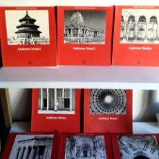 Libros de segunda mano: EXCELENTE LOTE 8 TOMOS ARQUITECTURA AGUILAR 1989 BARROCA ORIENTAL BIZANTINA ROMANA GRIEGA PRIMITIVA. Lote 183786155
