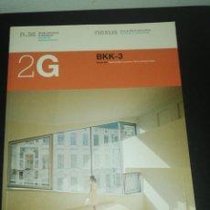 Libros de segunda mano: 2G, REVISTA INTERNACIONAL DE ARQUITECTURA, N. 36 BKK-3,. Lote 183869143