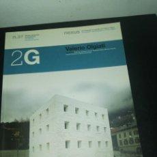 Libros de segunda mano: 2G, REVISTA INTERNACIONAL DE ARQUITECTURA, N. 37, VALERIO OLGIATI. Lote 183869168