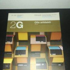 Libros de segunda mano: 2G, REVISTA INTERNACIONAL DE ARQUITECTURA, N. 38, OFIS ARHITEKTI. Lote 183869177