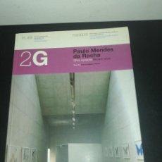 Libros de segunda mano: 2G, REVISTA INTERNACIONAL DE ARQUITECTURA, N. 45 PAULO MÉNDES DA ROCHA. Lote 183869231