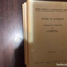 Libros de segunda mano: ESTUDIO DE MATERIALES. F. ARREDONDO. CSIC. FALTA EL VII. NUEVE LIBROS.. Lote 183918486
