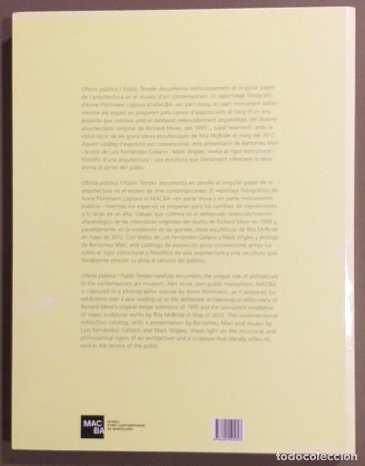 Libros de segunda mano: Oferta pública. Public tender. Rita McBride. MACBA 2012. Edición Clara Plasencia. Nuevo! - Foto 2 - 185416928