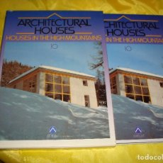 Libros de segunda mano: ARCHITECTURAL HOUSES VOL. 10 : CASAS EN LAS ALTAS MONTAÑAS. ATRIUM, 1991. Lote 187382952