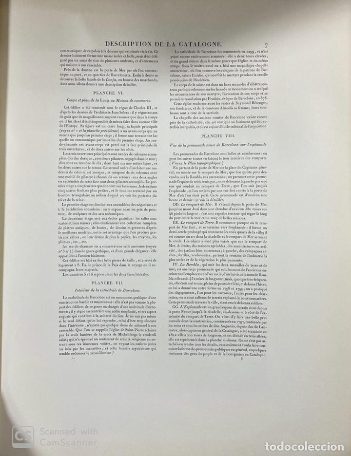 Libros de segunda mano: VOYAGE PITTORESQUE ET HISTORIQUE ET DESCRIPTION DE LA PRINCIPAUTE CATALOGNE.ALEXANDRE LABORDE,1973 - Foto 10 - 189250556