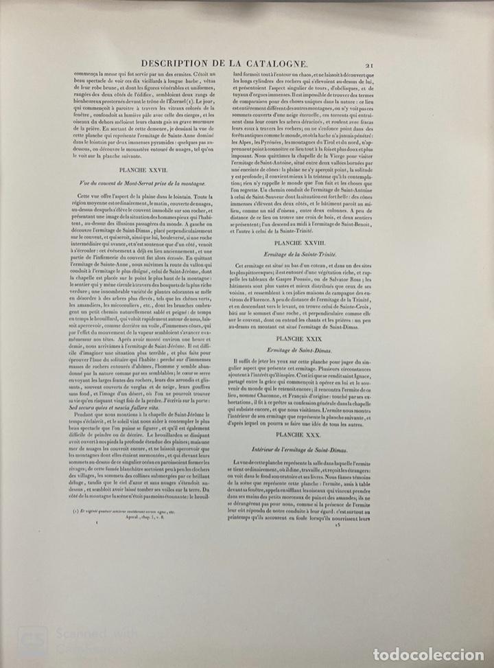 Libros de segunda mano: VOYAGE PITTORESQUE ET HISTORIQUE ET DESCRIPTION DE LA PRINCIPAUTE CATALOGNE.ALEXANDRE LABORDE,1973 - Foto 14 - 189250556