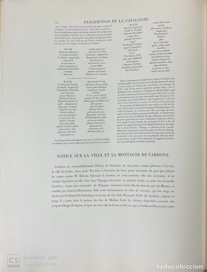 Libros de segunda mano: VOYAGE PITTORESQUE ET HISTORIQUE ET DESCRIPTION DE LA PRINCIPAUTE CATALOGNE.ALEXANDRE LABORDE,1973 - Foto 19 - 189250556