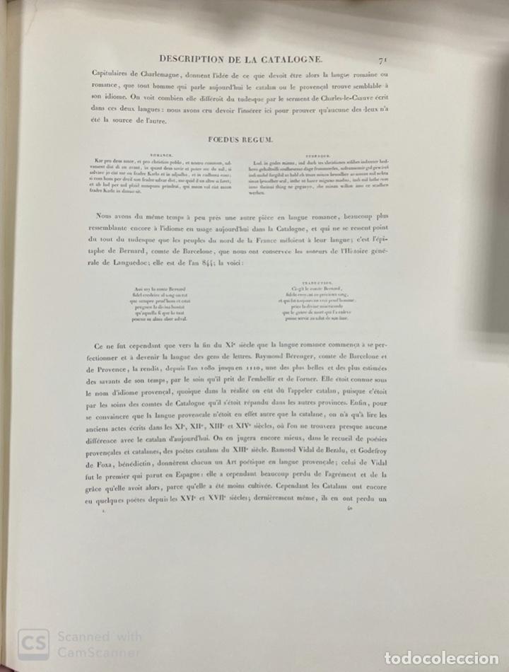 Libros de segunda mano: VOYAGE PITTORESQUE ET HISTORIQUE ET DESCRIPTION DE LA PRINCIPAUTE CATALOGNE.ALEXANDRE LABORDE,1973 - Foto 21 - 189250556