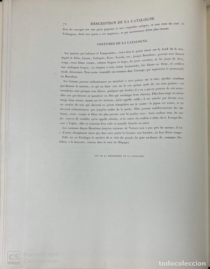 Libros de segunda mano: VOYAGE PITTORESQUE ET HISTORIQUE ET DESCRIPTION DE LA PRINCIPAUTE CATALOGNE.ALEXANDRE LABORDE,1973 - Foto 22 - 189250556