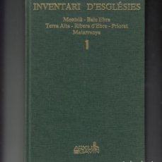 Libros de segunda mano: INVENTARI D'ESGLESIES - ARXIU GAVIN .TOMO 1 - MONTSIÀ-BAIX EBRE-TERRA ALTA - RIBERA-PRIORAT-MATARRA. Lote 191499950