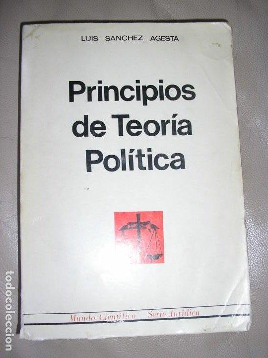 LIBRO PRINCIPIOS DE TEORIA POLITICA (Libros de Segunda Mano - Bellas artes, ocio y coleccionismo - Arquitectura)