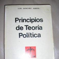 Libros de segunda mano: LIBRO PRINCIPIOS DE TEORIA POLITICA. Lote 192538640
