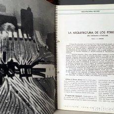 Libros de segunda mano: INFORMES DE LA CONSTRUCCIÓN (1949) ARQUITECTURA DE LOS FERROCARRILES, CÉLULAS URBANAS, CENTROS DE RE. Lote 192895145
