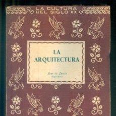 Libros de segunda mano: NUMULITE L1230 LA ARQUITECTURA JUAN DE ZAVALA ARQUITECTO PEGASO MADRID. Lote 194238817