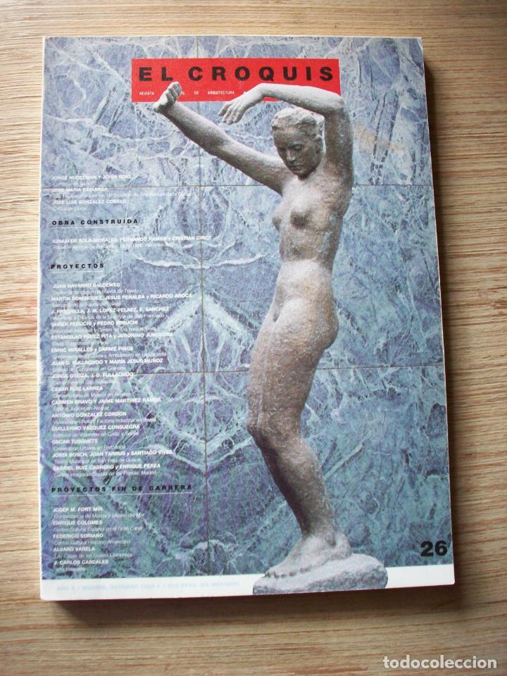 EL CROQUIS - ARQUITECTURA Y DISEÑO - Nº 26 - 1986 (Libros de Segunda Mano - Bellas artes, ocio y coleccionismo - Arquitectura)