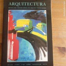 Libros de segunda mano: ARQUITECTURA. COLEGIO ARQUITECTOS MADRID. Nº 260. 1986. Lote 194265580