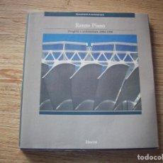 Libros de segunda mano: RENZO PIANO . PROGETTI E ARCHITETTURE 1984 - 1986 . ELECTA .. Lote 194503206