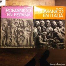 Libros de segunda mano: 2 TOMOS: EL ARTE ROMÁNICO EN ESPAÑA Y EL ARTE ROMÁNICO EN ITALIA.. Lote 194530753