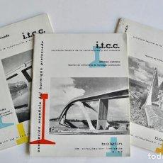 Libros de segunda mano: LOTE 3 BOLETINES. INSTITUTO TÉCNICO DE LA CONSTRUCCIÓN Y EL CEMENTO. NºS 56, 57 Y 58. 1960-61. Lote 194736206