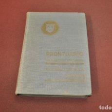 Libros de segunda mano: PRONTUARIO PARA EL EMPLEO DEL ACERO LAMINADO - AÑO 1967 - AQ2. Lote 194879007