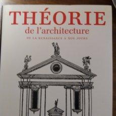 Libros de segunda mano: THEORIE DE L'ARCHITECTURE. Lote 194970180