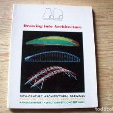 Libros de segunda mano: DRAWING INTO QRCHITECTURE . ARCHITECTURAL DESIGN . EDITA ANDREAS C PAPADAKIS 1989. Lote 195124711