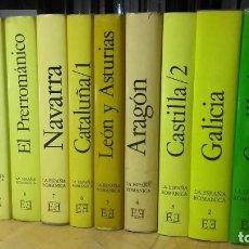 Libros de segunda mano: COLECCION LA ESPAÑA ROMANICA. 9 TOMOS, (ENCUENTRO EDICIONES, 1980).. Lote 195146312