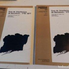 Libros de segunda mano: QUADERNS ARQUITECTURA 122 123 CUADERNOS - GUÍA DE ARQUITECTURA DE BARCELONA 1716-1977 1ª Y 2ª PARTE . Lote 195373195