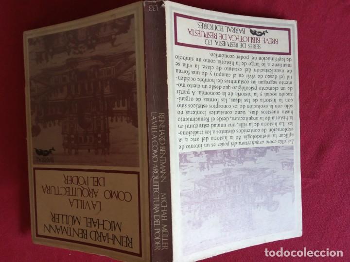 Libros de segunda mano: La villa como arquitectura del poder- R. Bentmann y M. Muller. - Foto 2 - 195382921