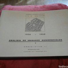 Libros de segunda mano: LIBRO ANALISIS DE UNIDADES RESIDENCIALES. Lote 195471491