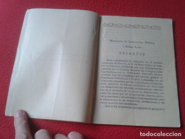 Libros de segunda mano: TARIFA DE HONORARIOS LIBRITO GUÍA SINDICATO DE LA CONSTRUCCIÓN SECCIÓN TÉCNICA APAREJADORES FALANGE? - Foto 4 - 198181055