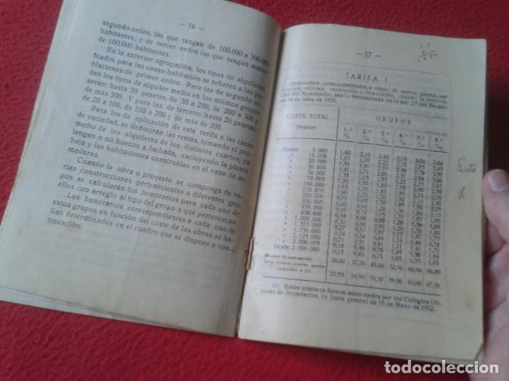 Libros de segunda mano: TARIFA DE HONORARIOS LIBRITO GUÍA SINDICATO DE LA CONSTRUCCIÓN SECCIÓN TÉCNICA APAREJADORES FALANGE? - Foto 5 - 198181055