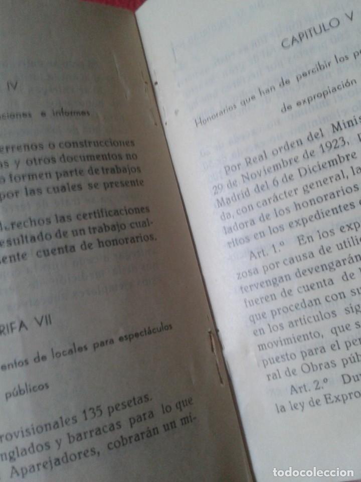 Libros de segunda mano: TARIFA DE HONORARIOS LIBRITO GUÍA SINDICATO DE LA CONSTRUCCIÓN SECCIÓN TÉCNICA APAREJADORES FALANGE? - Foto 8 - 198181055