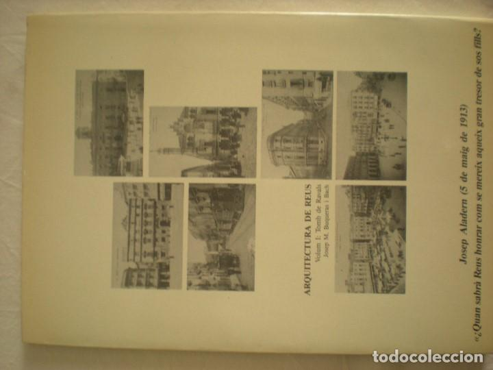 Libros de segunda mano: Arquitectura de Reus - Tomb de Ravals - Foto 2 - 204242861