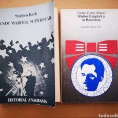 Libros de segunda mano: LOTE WALTER GROPIUS BAUHAUS + ANDY WARHOL. Lote 183380053