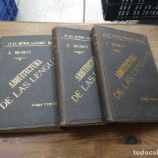 Libros de segunda mano: ARQUITECTURA DE LAS LENGUAS, E. BENOT. (TRES TOMOS). L.36-528. Lote 205775365