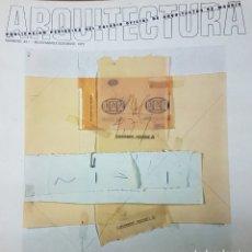 Libros de segunda mano: REVISTA ARQUITECTURA COLEGIO DE ARQUITECTOS DE MADRID NÚMERO 220 JOSE RAMON SIERRA. Lote 206180650