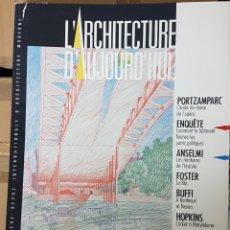 Libros de segunda mano: REVISTA ARQUITECTURA FRANCESA L'ARQUITECTURA D'AUJOURD'HUI 254 ALESSANDRO ANSELMI , FOSTER. Lote 206186218