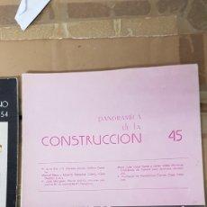 Libros de segunda mano: REVISTA PANORÁMICA DE LA CONSTRUCCIÓN NÚMERO 45. Lote 206187913